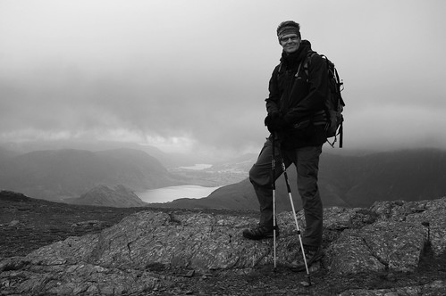 20110923-11 (B+W)_On Robinson_Crummock Water + Loweswater Behind by gary.hadden