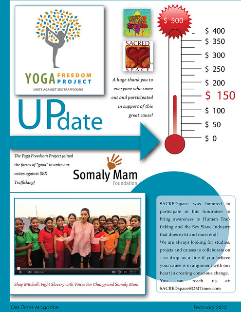 OM Times Feb 2012 : Update : The Yoga Freedom Project