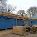 Constructing the walkways - Brockwood Park School Pavilions Project