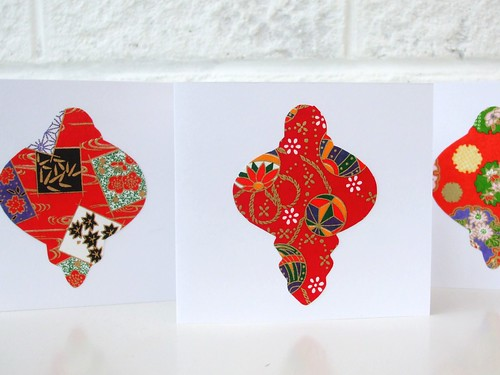 Washi bauble cards