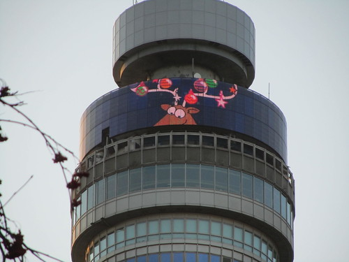 Rudolph on the BT Tower