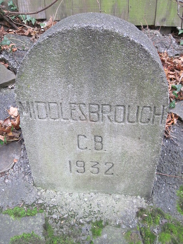 1932 Middlesbrough County Borough Marker