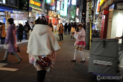 Akihabara and Ginza maids