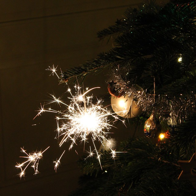 Christmas tree fireworks