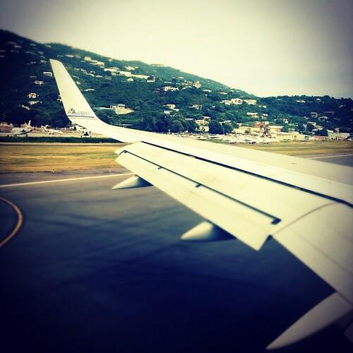 Touchdown in #stt ....#vacation #airplane #flight #travel #islands #caribbean
