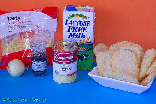 Hashbrown Bake ingredients