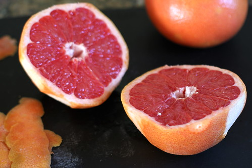 close-up of grapefruit