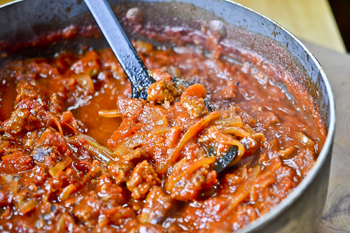 Italian Sausage Ragu with Rigatoni