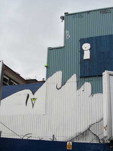Street Art & Graffiti in Shoreditch - RUN & Stik