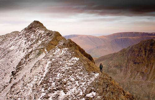 Rare solitude on Striding Edge