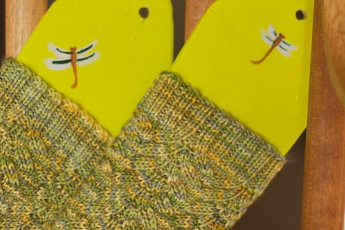 Corn on the Cob socks, cuffs