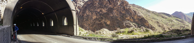 Tunnel panorama in the Zagros