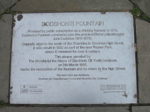 Dodshons Fountain, Stockton