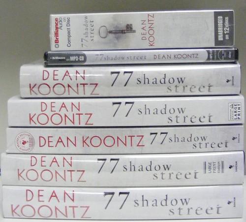 Eight US Editions of Dean Koontz's 77 Shadow Street