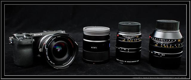 neX-7 with Voigtlander 12mm UltraWide Heliar and lenses