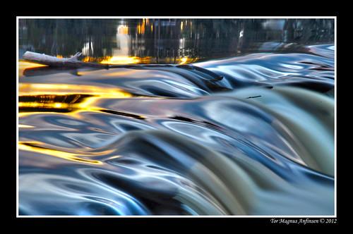 Stick in silk river by Tor Magnus Anfinsen