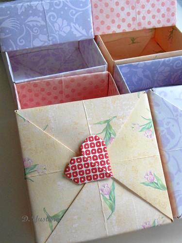 Petit Four Origami Boxes