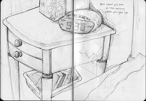 Sketchbook Project/EDM #14 Draw what you see in the morning when you get up