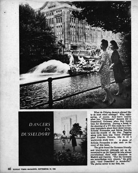 Linda on page 40 of Sunday Times Magazine on 10 September 1961.