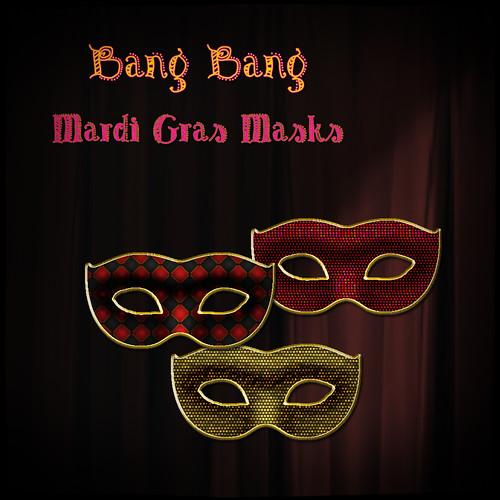 Bang Bang - Mardi Gras Masks