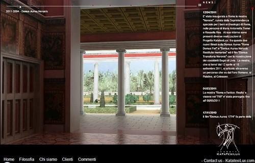 "ROMA ARCHEOLOGICA - Mostra ""Nerone - Domus Transitoria Neronis & Domus Aurea Neronis,"" Roma / SBBAR / KATATEXILUX (12/04-18/10/2011).  by Martin G. Conde"