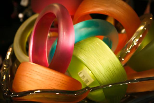 $40 plastic bracelets