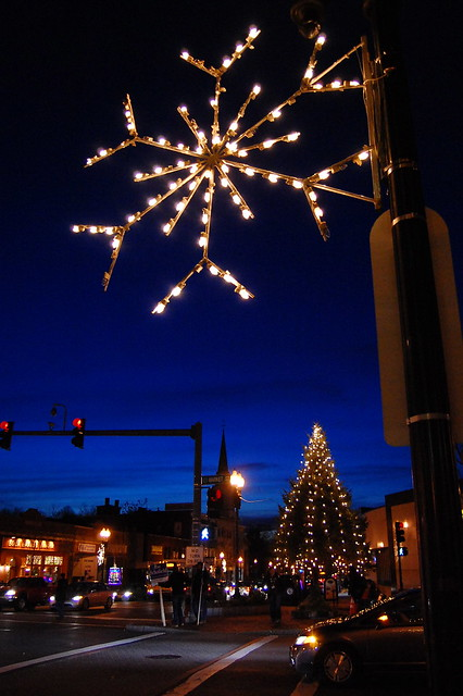 Brighton Center Decorated for the Holidays