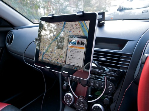 iPad in Mazda RX-8