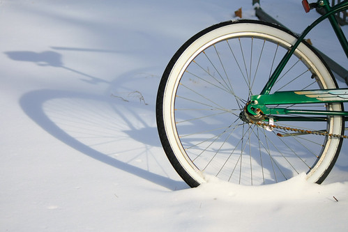 Wheel in Snow
