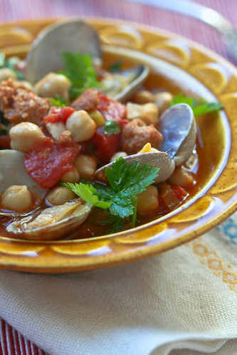Clams with Chorizo and Chickpeas 2