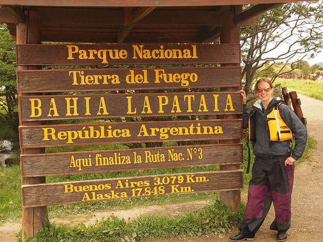 The Parque Nacional Sign