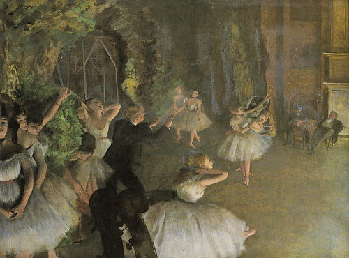 [ D ] Edgar Degas - The Rehearsal of the Ballet on Stage (1874)