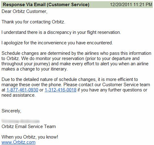 A Classically Sucky Orbitz Customer Service Experience