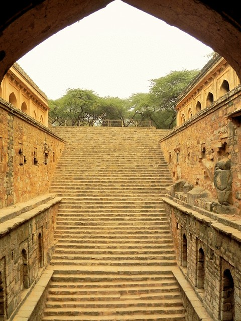 Step wells in Delhi, India