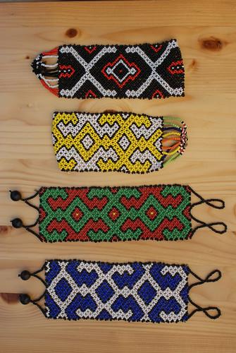Shipibo Bead Work (8) A by Howard G Charing