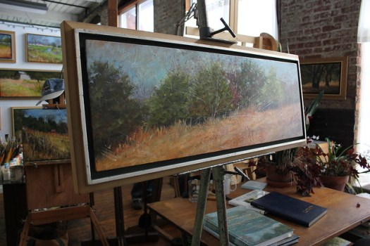 Conor O'Brien's Studio at Lowe Mill in Huntsville AL