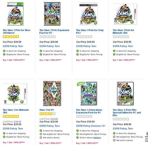 Toys R Us - BOGO Video Game Sale