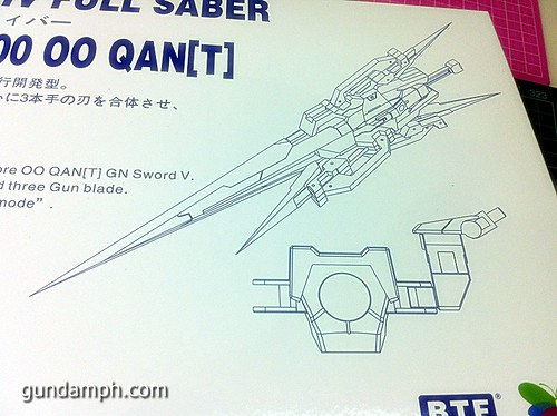 GN Sword 4 IV Full Saber QuanT 1-100 BTF Coversion Kit Unboxing (7)
