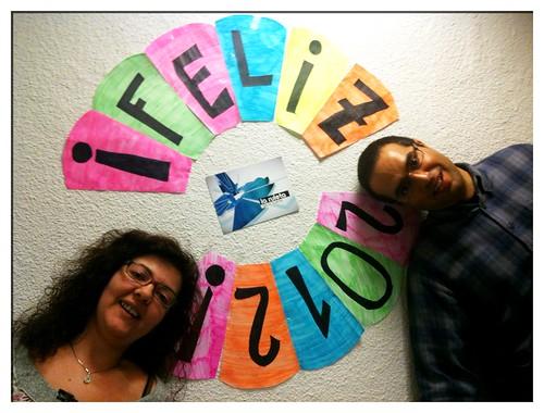 Nieves y Nacho en la ruleta del 2012