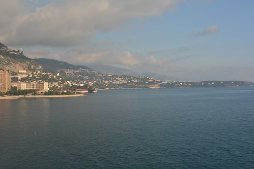 Looking from Monaco towards Italy