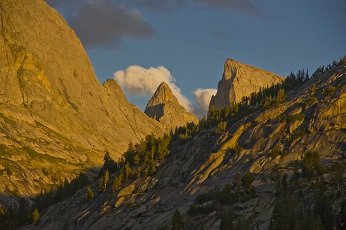 Steeple Peak and Lost Temple Spire from Deep Lake, Wind River Range, Wyoming  by i8seattle