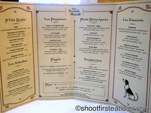 The French Hound menu-1