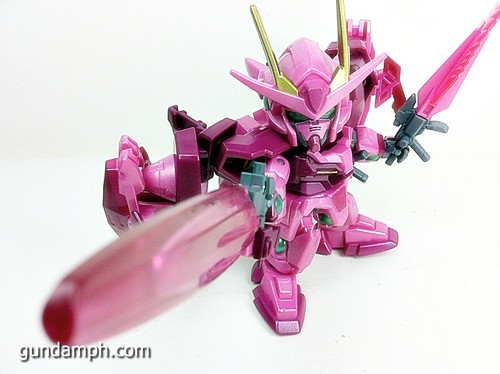 SD Gundam Online Capsule Fighter Trans Am 00 Raiser Rare Color Version Toy Figure Unboxing Review (59)