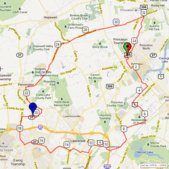 11. Bike Route Map. Princeton NJ