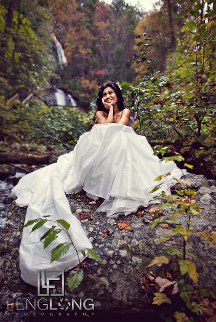 Khammy's Bridal Portrait Session | Anna Ruby Falls | Helen, GA Wedding Photographer