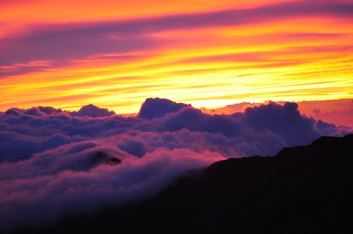 sunrise over haleakala by allmann