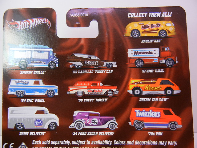 HOT WHEELS NOSTALGIA HERSHEYS SERIES