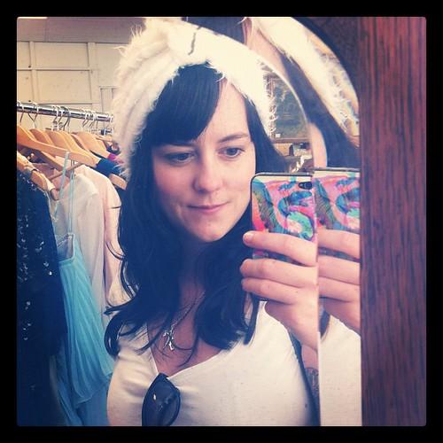 Almost bought a fuzzy white turban