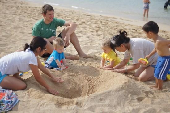Fun on the Beach in Hawaii