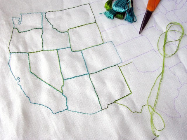 Embroidered States of America